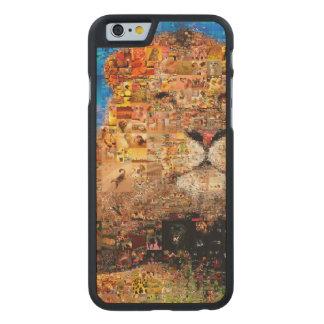 lion - lion collage - lion mosaic - lion wild carved maple iPhone 6 case