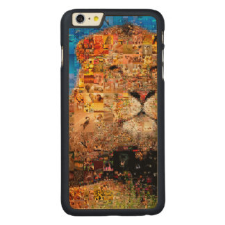 lion - lion collage - lion mosaic - lion wild carved maple iPhone 6 plus case