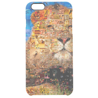 lion - lion collage - lion mosaic - lion wild clear iPhone 6 plus case