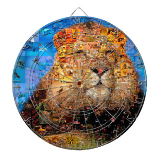 lion - lion collage - lion mosaic - lion wild dartboard