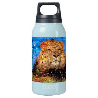 lion - lion collage - lion mosaic - lion wild insulated water bottle