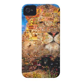 lion - lion collage - lion mosaic - lion wild iPhone 4 cover