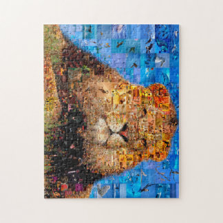 lion - lion collage - lion mosaic - lion wild jigsaw puzzle
