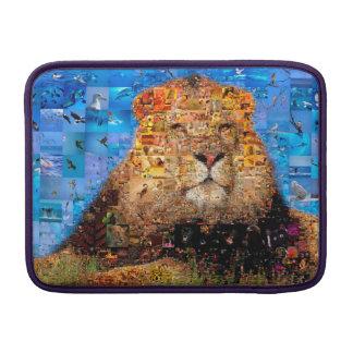 lion - lion collage - lion mosaic - lion wild MacBook sleeve