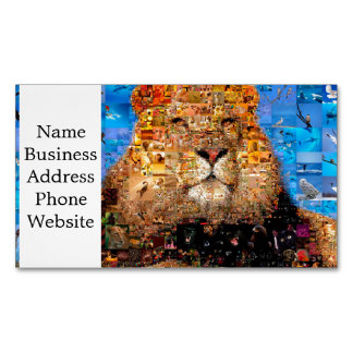 lion - lion collage - lion mosaic - lion wild 	Magnetic business card