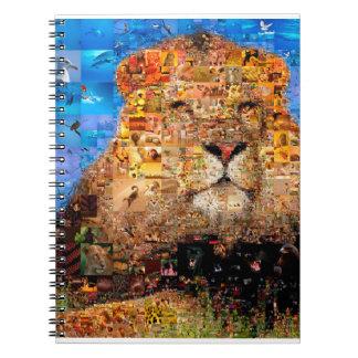 lion - lion collage - lion mosaic - lion wild notebooks