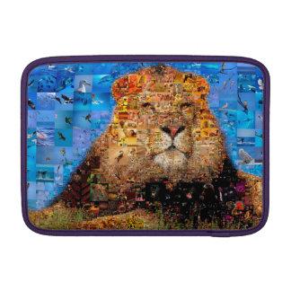 lion - lion collage - lion mosaic - lion wild sleeve for MacBook air
