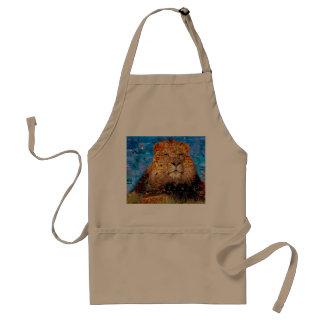 lion - lion collage - lion mosaic - lion wild standard apron