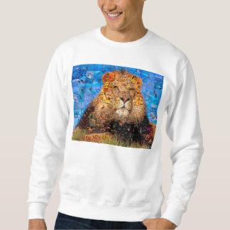 lion - lion collage - lion mosaic - lion wild sweatshirt