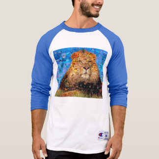 lion - lion collage - lion mosaic - lion wild T-Shirt