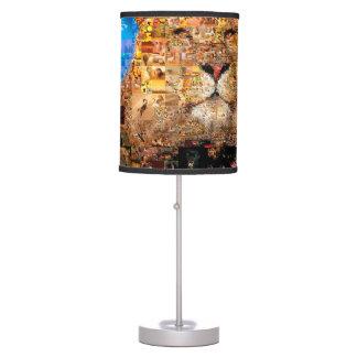lion - lion collage - lion mosaic - lion wild table lamp