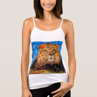 lion - lion collage - lion mosaic - lion wild tank top