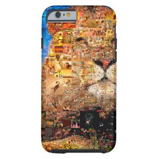 lion - lion collage - lion mosaic - lion wild tough iPhone 6 case
