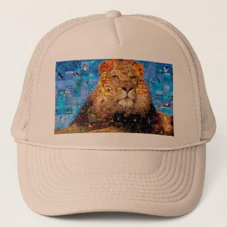 lion - lion collage - lion mosaic - lion wild trucker hat