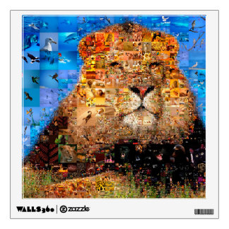 lion - lion collage - lion mosaic - lion wild wall decal