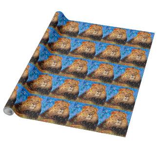 lion - lion collage - lion mosaic - lion wild wrapping paper