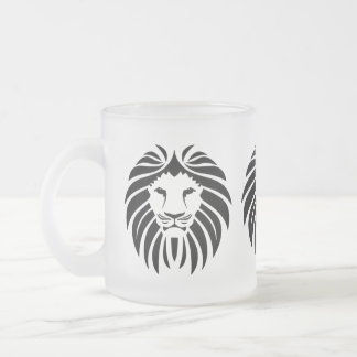 Lion, Lion Mane, Pride, Safari Frosted Glass Coffee Mug