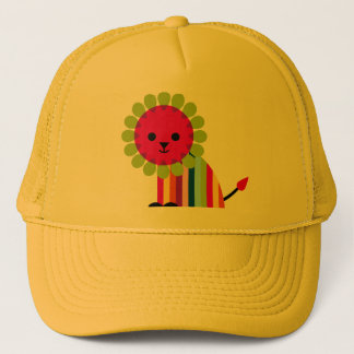 Lion Lioness Happy Cat Cute Cartoon Animal Trucker Hat