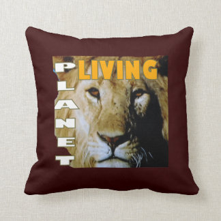 Lion living planet eco-friendly throw pillow