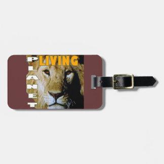 Lion Living planet Luggage Tag