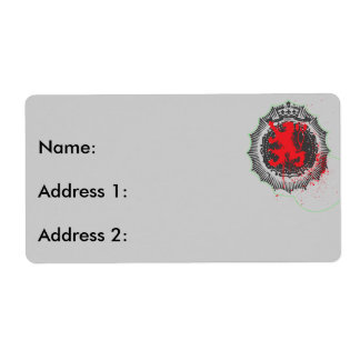 Lion Logo Shipping Label