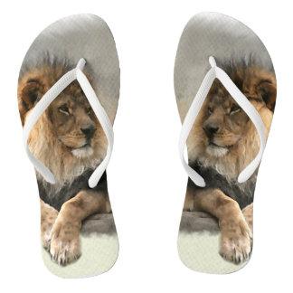 Lion Lover Flip Flops