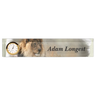Lion Lovers Art Nameplate