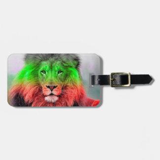Lion Luggage Tag Bulgarian Flag