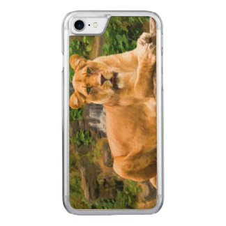 Lion Lying on Rock Carved iPhone 8/7 Case