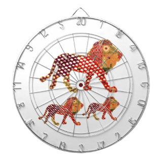 LION -  Majestic KING of animals Dartboard With Darts