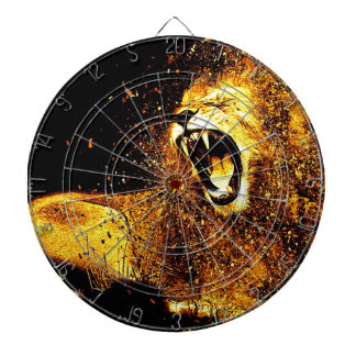 Lion Mane Hair Fur Cat Predator Males Head Dartboard