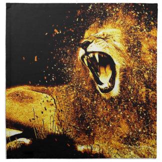Lion Mane Hair Fur Cat Predator Males Head Napkin