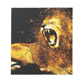 Lion Mane Hair Fur Cat Predator Males Head Notepad