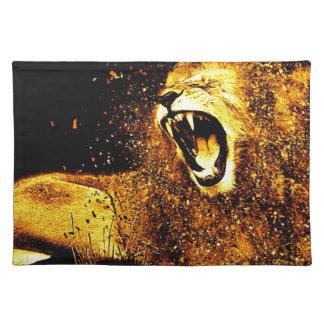 Lion Mane Hair Fur Cat Predator Males Head Placemat