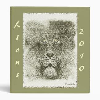 Lion Mascot Avery Binder