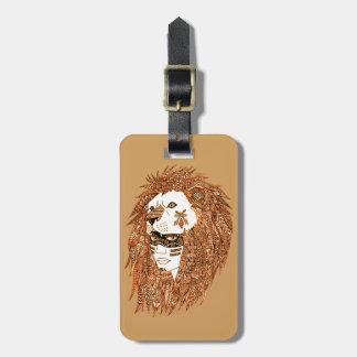 Lion Mask Luggage Tag