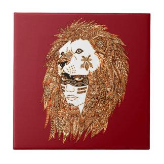 Lion Mask Tile