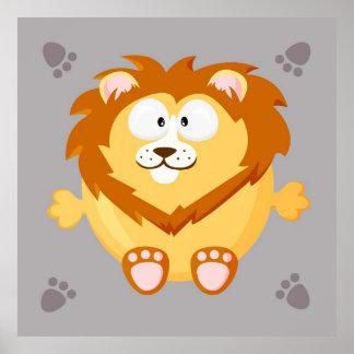 Lion mignon posters