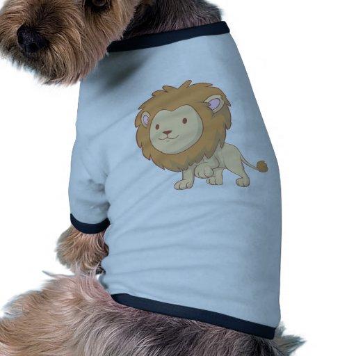 Lion mignon et câlin de bébé manteau pour chien