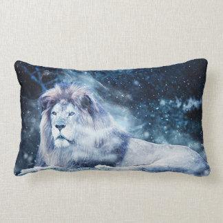 Lion - Mix Media 2 Lumbar Pillow