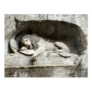 Lion Monument, Lucerne Postcard