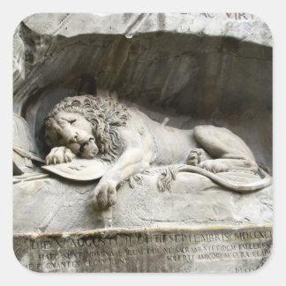 Lion monument, Lucerne Square Sticker