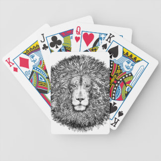 Lion nest black and white bicycle playing cards