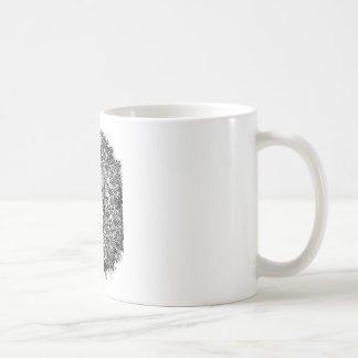 Lion nest black and white coffee mug