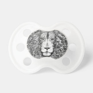 Lion nest black and white pacifier