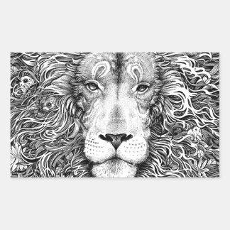 Lion nest black and white sticker