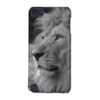 Lion noir et blanc - animal sauvage coque iPod touch 5G