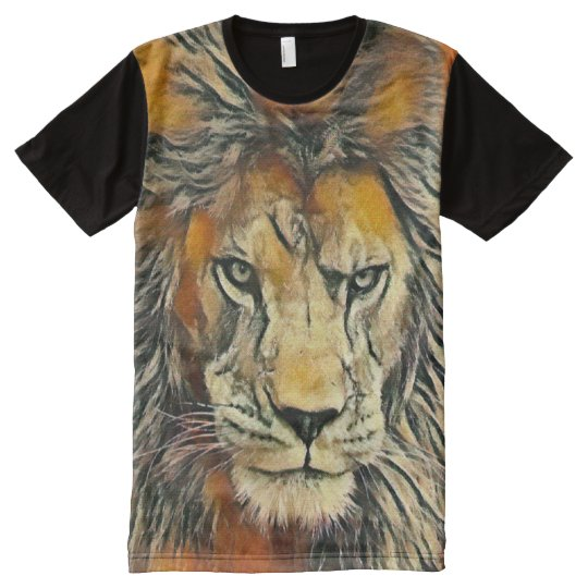 Lion of God Oil Pastel Art Graphic Tee