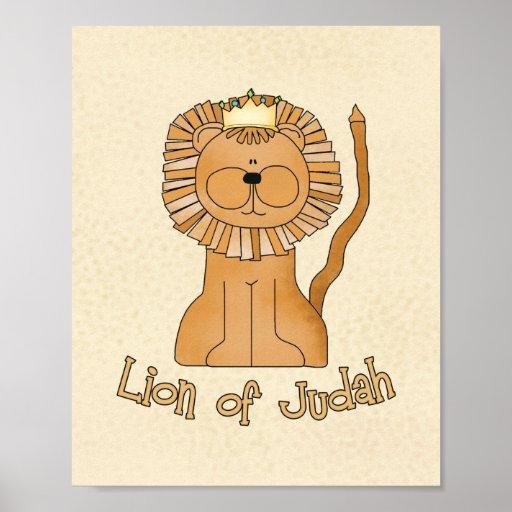 "Lion of Judah 8""x10"" Nursery Art Poster"