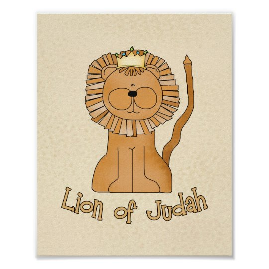 "Lion of Judah 8""x10"" Nursery Art Poster"